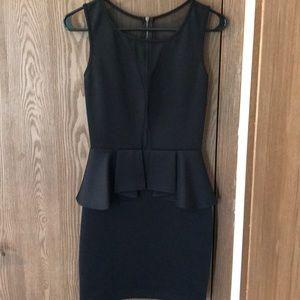 Black Guess Peplum Dress, size medium